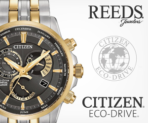REEDS Jowelers DECEMIEA ANUARY ITIZEN EMBER CITIZEN The CITIZEN. ECO-DRIVE. JULY JUNE TMILER