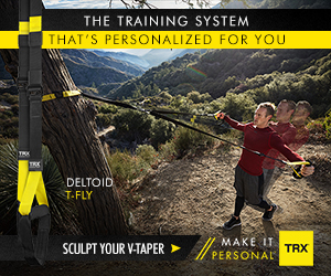 THE TRAINING SYSTEM THAT'S PERSONALIZED FOR YOU DELTOID T-FLY SCULPT YOUR V-TAPER MAKE IT PERSONAL TRX