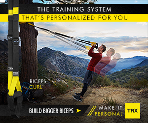 THE TRAINING SYSTEM THAT'S PERSONALIZED FOR YOU BICEPS CURC MAKE IT PERSONAE BUILD BIGGER BICEPS TRX