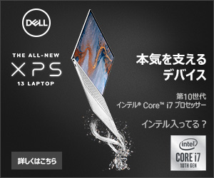 (DLL) 本気を支える デバイス THE ALL-NEW ×PS 13 LAPTOP 第10世代 インテル Core